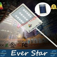 Wholesale 2016 New Solar Powered Panel LED Street Light Solar Sensor Light Outdoor Garden Path Spot Light Wall Emergency Lamp Luminaria