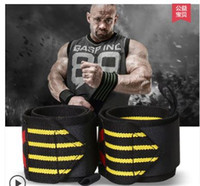 Wholesale Men s women s sports weightlifting training lengthen anti wrench elastic bandage protective wrist pad bandage ties sports equipment