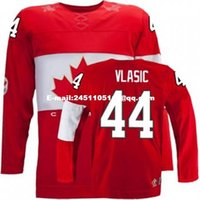 Cheap Retro throwback #44 MARC-EDOUARD VLASIC Team Canada Jersey OLYMPIC HOCKEY free shipping Customize any size player name number