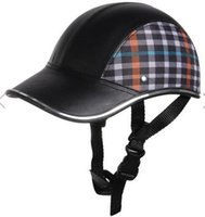 baseball safety helmet - Motorcycle Anti UV Helmet Baseball Style Plaid Safety Half Helmets