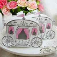 beautiful carriage - 200pcs Fairytale Princess Carriage Candy box Wedding Favour Chocolate Gift Boxes Unique and Beautiful Design New