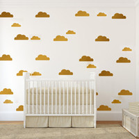 baby room patterns - 10PCS Popular Cute Cloud Pattern Wall Sticker Removable Waterproof No Pollution Material For Baby Bedroom Kids Living Room Decal