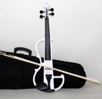 Wholesale High quality violin Send violin Hard case Handmade white Black electric violin with power lines
