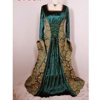 adult medieval costume - Hot sale NEW cosplay green medieval Costumes for women Fanny Cute French Adult Sexy Maid Costumes