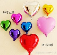 Wholesale 50pcs Inch Colors Love Heart Shape Aluminum Film Helium Balloon Wedding Birthday Christmas Party Gift Toy Decoration