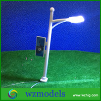 advertising layouts - 50pcs Outdoor Advertising Lamp Model with LED light Miniature Model Lamp for Train Layout