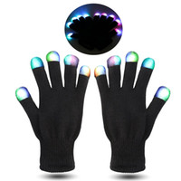big kid music - HOT Festival Flash Color changing LED Glove Rave light led finger light gloves light up glove For Party favor music concert f