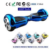 Wholesale Chrome Bluetooth Hoverboard with Samsung battery Wheel Self Balancing Electric Scooters inch Hoover Board Smart Scooter Wheels Unicyle