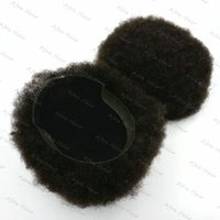 afro toupee - Afro Toupee French Lace Poly Around Super Curl Hair Toupee Mens Hair Piece H059