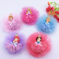 acc wholesale - Kids hair acc Children dress accessories small diamond crown hair ornaments Korean bow hairpin headdress flower girl yarn ribbon hair band
