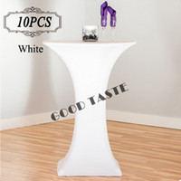 bar cocktail tables - 10PC New Dry Bar Cocktail Table Cover High Quality Polyester Spandex Stretch Highboy Table Cloth for Cocktail Table Covering of wedding