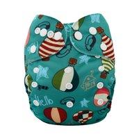 Wholesale Organic cotton diapers reusable panties ecological absorbing diapers for children modern cloth nappies fraldas de pano modernas