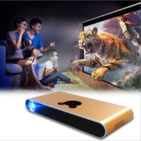 Wholesale mini LED Projector work with smart phones of Android iOS ipad Phone PC TV micro portable DLP d projector HD p