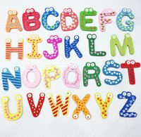 Wholesale 260pcs Cute Teaching Alphabets A to Z Refrigerator Fridge Magnet letters stickers baby kids toy
