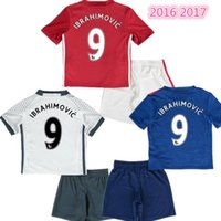 Wholesale 2016 Top Thailand Quality MancHester Jersey Kids home away jerseys UnITED Ibrahimovic MEMPHIS MATA MARTIAL ROONEY POGBA football jerse