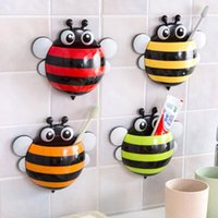 bee toothbrush holder - Super Deal Toothbrush Holder Set Family Set Wall Bee Mount Rack Bath toothbrush holder bathroom accessories banheiro HYM17