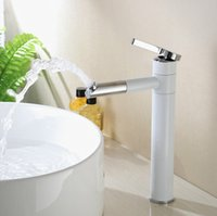 Wholesale modern white basin mixer taps chrome copper faucets bathroom mixer tap BF
