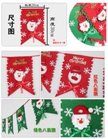 banner types - Christmas Decoration Eight Flags Six Flags Santa Claus Snowman Type Bunting Paperboard Pennant Flags Banners Christmas goods