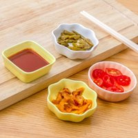 Wholesale Creative home ceramics seasoning dish dessert plate Kitchen Bowl kitchen Tool Small Dishes CM