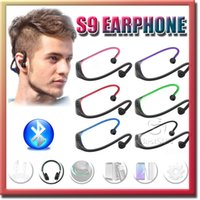 apple stereo speakers - Headphone S9 Wireless Stereo Headset Sports Bluetooth Speaker Neckband Earphone Bluetooth With Retail Package Pieces UP DHL