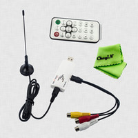 Wholesale Easycast Dongle Hot Sell Global Usb Analog Tv Tuner Ntsc m Pal i d b Secam B g Stick System Antenna Cable Remote Controller for Pc Laptop