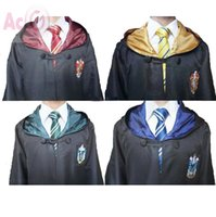 Wholesale High Quality Harry Potter Robe Gryffindor Cosplay Costume Kids Adult Harry potter Robe cloak styles Halloween Gift Only Robe Without Tie