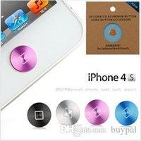 Wholesale New Fashion Aluminum Home Button Sticker Paste Key Press Keypads Stick for iphone s iPad new iPad RJ1157 dd