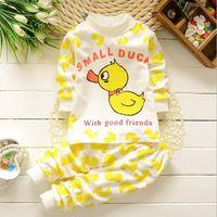 Wholesale 2016 M T Spring Autumn Children Underwear Cotton Baby Boys Girls Clothing Set For Newborn Infant Sleep Wear Clothes Set