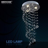 Wholesale Spiral Design Crystal Ceiling chandelier Light Fixture Small Stair Crystal Light fitting lustre lamp Dining Light D400mm H800mm MD6002