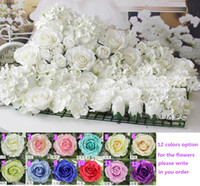 artificial flowers silk roses - Artificial silk rose flower wall wedding background lawn pillar flower road lead home market decoration