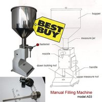 Wholesale stainless steel Manual Cream paste liquid filling machine small bottle handle operate filling machine ml tank capacity kg