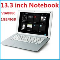 Wholesale 13 inch Android Notebook Laptop PC Computer HD VIA8880 Dual Core G G Android Camera Google Play