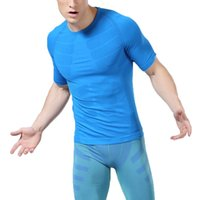 Wholesale Size Men Athletic Compression Short Sleeve Sport Tight Shirt Gym ClotheS