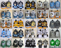 Cheap 25 Styles Pittsburgh Penguins #87 Crosby Black Home Penguins Stitched Nhl Ice Hockey Jerseys High Quality Cheap Hot Sell Winter Sportswear