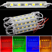 Wholesale 20pcs Waterproof LED Module SMD RGB white Red Green Blue Yellow Pink Sign Design Hard Strip Light Lamp Decorate DC12V