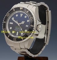 Wholesale Top quality luxury Men s Watches mm Ceramic MODEL Blue Faces Steel SEADWELLER Sea Dweller mm Automatic Mens Watch