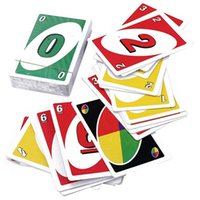 Wholesale 2016 UNO poker card standard edition family fun entertainment board game card Kids funny Puzzle game card