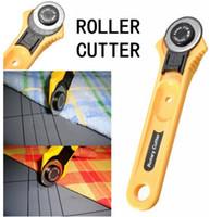 al por mayor sew corte-28 mm de acero de alta velocidad Rotary Cutter colcheras premium que cosían la tela de cuero curvas Vinilo Craft acolchar herramientas de corte del cuchillo de la mano