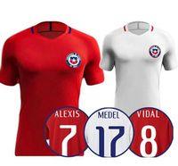 Wholesale top Thai Quality A VIDAL ALEXIS Chile Jersey Football shirt VALDIVIA MEDEL CH ARANGUIZ Football shirt