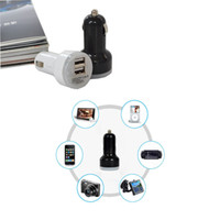 Wholesale Car Cigarette Powered Dual USB Adapter Charger for iPad2 iPhone S S C Mobile Phones