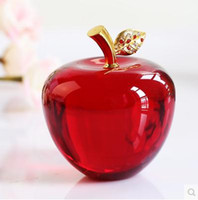 apple crafts - K9 crystal apple home decorative crafts Christmas gifts creative crystal crafts support mixed batch to support the negotiated price