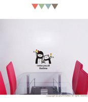 bear bathroom - I miss you all the time for room decorate child and bear cartoon stickers small wall stick DIY Art wall Decor K11