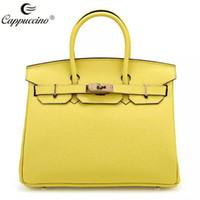 Wholesale Ladies Handbags cappuccino new collection Top grian Genuine leather handbag leather Lady bag leather women handbag
