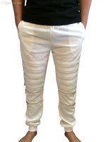 Cheap Wholesale-Rare new 2015 hip hop tyga kanye west style men unisex zippers harem jogger baggy cotton pants S TO XXL S TO 2XL