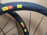 Wholesale Full Carbon T800 mm mm wideth clincher carbon fiber Carbon Ceramic hubs road bicycle wheels UD K c road bike mm wheelset