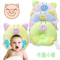 baby corrective - 2016 High Quality Soft Corrective Slant Head Baby Pillow Infant Newborns Pillow Cartoon Piglet Printed Baby Shaping Pillow