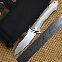Wholesale B000905 US Local Shipping Sharp EDC Tools VESPA Ball Bearing Flipper Folding Knife Knives With D2 Blade And TC4 Titanium Alloy Handle
