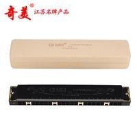 Wholesale New Chi Mei Hole Color Black Tremolo Harmonica Retro C Silver Harmonica Holes Key of C Musical Instrument