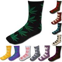 Wholesale 2016 Top Quality Hot Sell Paris Leaf Socks Cotton High Socks Unisex Skateboard Hiphop Socks Sport Socks Different Colors