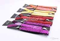 Wholesale Colorful Sequins Women Elastic Shinny Suspender cm width Solid color Performing Strap Three Clips Red Blue Silver